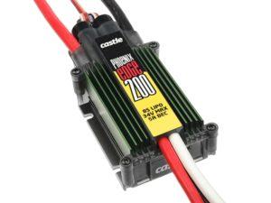Castle - Phoenix Edge 200 - Hoog-vermogen Air-Heli Brushless regelaar Telemetrie mogelijkheid  2-8S - 200A - 5A SBec