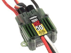 Castle - Phoenix Edge 50 - Hoog-vermogen Air-Heli Brushless regelaar  Telemetrie mogelijkheid- 2-8S - 50A - 5A SBec