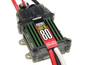 Castle - Phoenix Edge 80 HV - Hoog-vermogen Air-Heli High Voltage Brushless regelaar - 6-12S - 80A