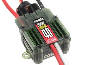 Castle - Phoenix Edge 40 HV - Hoog-vermogen Air-Heli High Voltage Brushless regelaar Telemetrie mogelijkheid - 6-12S - 40A