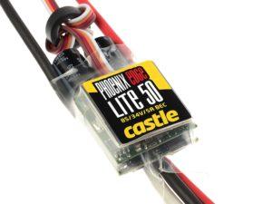 Castle - Phoenix Edge Lite 50 - Hoog-vermogen Air-Heli Brushless regelaar -Telemetrie mogelijkheid - 2-8S - 50A - 5A SBec