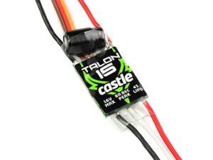 Castle - Talon 15 - Hoog-vermogen Air-Heli Brushless regelaar - Telemetrie mogelijkheid - 2-6S - 15A - Hoogvermogen SBec