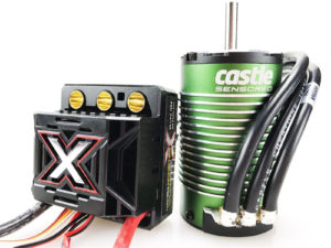 Castle - Mamba Monster X - Combo - 1-8 Extreem Car regelaar met 1512-1800 Sensored Motor