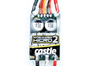 Castle - Sidewinder 18th - 1-18 Extreem Car regelaar - Telemetrie mogelijkheid - 2-3S - Bec - Sensorless only
