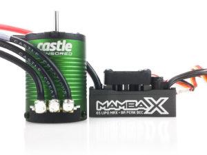 Castle - Mamba X - Combo - 1-10 Extreem Car regelaar met 1406-4600 Sensored Motor