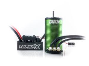 Castle - Mamba X SCT - Combo - 1-10 Extreem SCT regelaar met 1415-2400 Sensored Motor