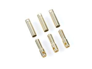Castle - Bullet stekkers 4.0mm - 3 st. Mannelijk + 3 st. Vrouwelijk