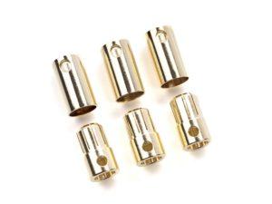 Castle - Bullet stekkers 8.0mm - 3 st. Mannelijk + 3 st. Vrouwelijk