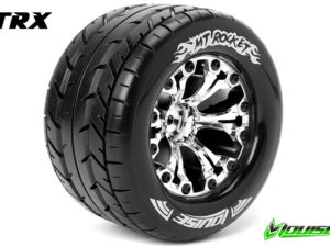 "Louise RC - MT-ROCKET - 1-10 Monster Truck Banden Set - Verlijmd op velg - Soft - 2.8""  - 0-Offset"