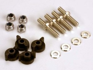 Anchoring pins with locknuts (4)/ plastic thumbscrews for up