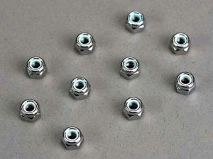Nuts, 4mm nylon locking (10)