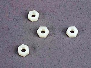 4mm nylon wheel nuts (4)