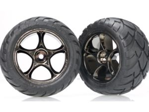Tires & wheels, assembled (Tracer 2.2 black chrome wheels, A