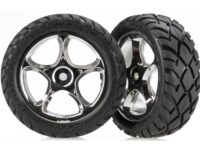 Tires & wheels, assembled (Tracer 2.2 chrome wheels, Anacond