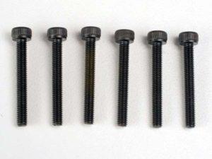 Header screws, 3x23mm cap hex screws (6)
