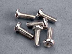 Screws, 3x8mm roundhead machine (6)