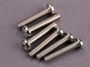 Screws, 3x15mm roundhead machine (6)