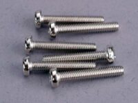 Screws, 3x18mm roundhead machine (6)