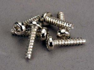 Screws, 3x12mm roundhead self-tapping (6)