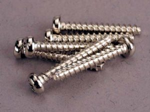 Screws, 3x20mm roundhead self-tapping (6)