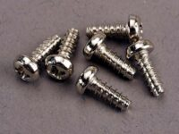 Screws, 3x8mm roundhead self-tapping (6)