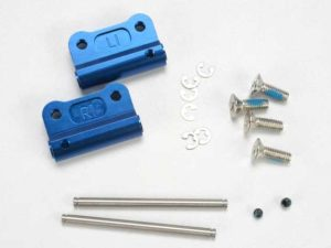 Mounts, suspension arm (blue-anodized 6061-T6 aluminum)(rear