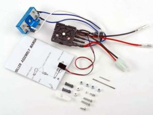Rotary mechanical speed control with resistors