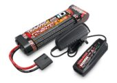 TRAXXAS BATTERY/CHARGER COMPLETER PACK  2969 CHARGER/2923X FLAT BATTERY