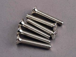 Screws, 4x25mm countersunk machine (6)