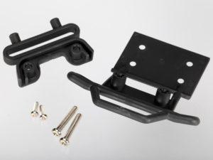 Bumper, front / bumper mount, front / 4x23mm RM (2)/ 3x10mm