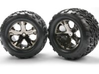 Tires & wheels, assembled, glued (2.8) (All-Star black chrom