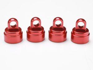 Shock caps Aluminium Red Anodized