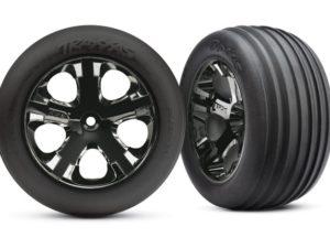 Tires & wheels, assembled, glued (2.8)(All-Star black chrome