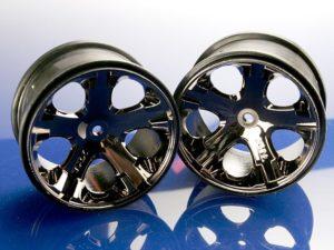 Wheels, All-Star 2.8 (black chrome) (Rustler, Stampede rear