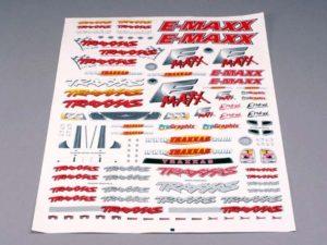 Decal sheet, E-Maxx
