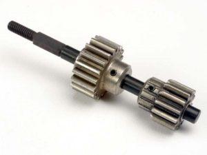 Input shaft/ drive gear assembly (18/ 13-tooth top gear)