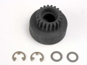 Clutch bell, (20-tooth)/ 5x8x0.5mm fiber washer (2)/ 5mm E-c