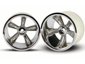 TRX Pro-Star chrome wheels (2) (rear) (for 2.2 tires)