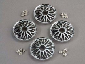 Wheel covers, BBS type (chrome) (4)/ attachment screws (12)