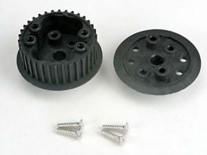 Differential (34-groove)/ flanged side-cover & screws