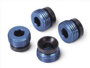 Aluminum caps, pivot ball (blue-anodized) (4)
