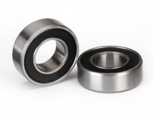Ball bearings, black rubber sealed (6x12x4mm) (2)