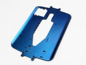 Chassis, 6061-T6 aluminum (4.0mm) (blue) (standard replacem