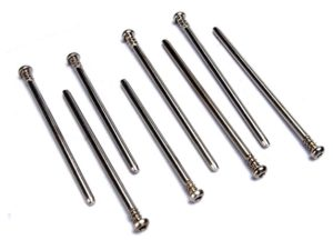 Suspension screw pin set, hardened steel (hex drive)