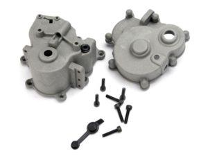 Gearbox halves (front & rear)/ rubber access plug/ shift det