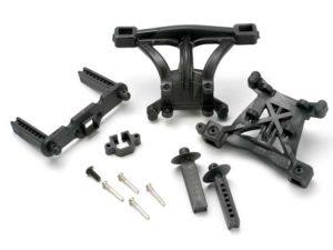 Body mounts, front & rear/ body mount posts, front & rear/ 2