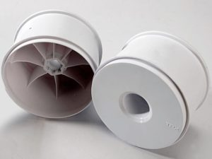 Wheels, dished 3.8 (white) (2) (use with 17mm splined wheel