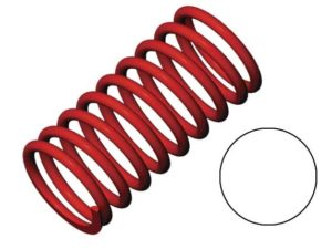 Spring, shock (red) (GTR) (2.9 rate white) (std. front 90mm)