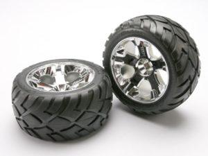 Tires & wheels, assembled, glued (All-Star chrome wheels, An