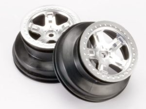 Wheels, SCT satin chrome, beadlock style, dual profile (2.2